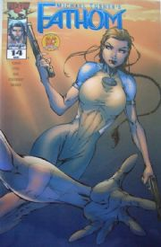 Fathom #14 Dynamic Forces Blue Foil Michael Turner Variant DF COA Top Cow comic book